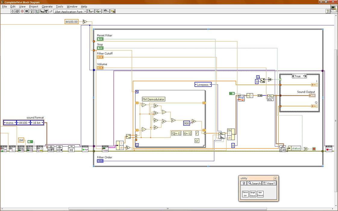 Cognitive Radio Project Blog Archive Fm Receiver Labview F M Circuit Diagram Free Basically